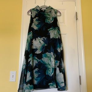 Vince Camuto navy flower dress